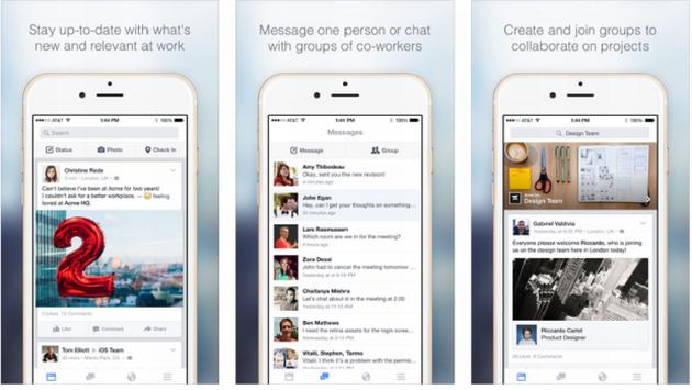 Facebook at Work, Facebook formato Business