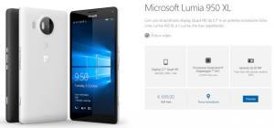 Microsoft Lumia 950 XL e Microsoft Lumia 950 ufficializzati in Italia