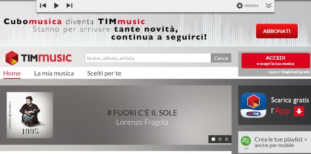 Tim Music: Competizione estera con Spotify, Tidal, Apple Music e Google Music