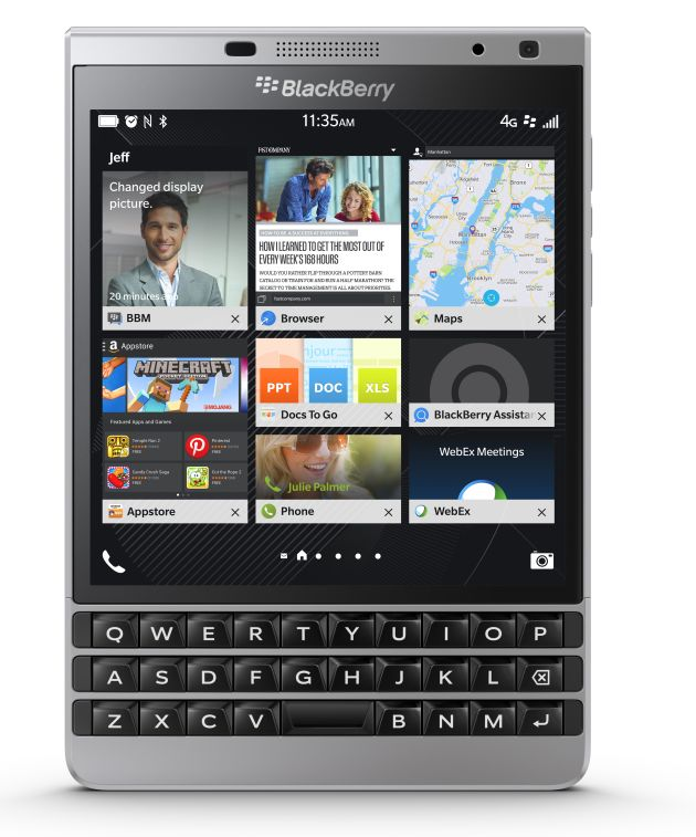 Blackberry annuncia BlackBerry Passport Silver Edition