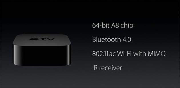Apple presenta la nuova Apple Tv con Siri, Giochi e Touchpad
