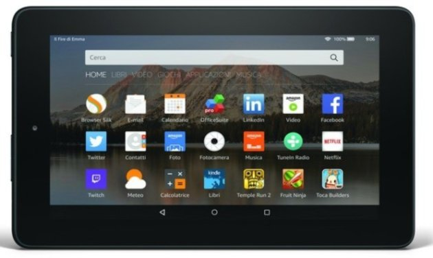 Amazon Fire 7: Nuovo tablet Pc da 7 pollici a 59 euro