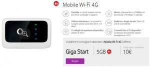 Vodafone Mobile Wifi 4G: fino a 10 dispositivi contemporaneamente