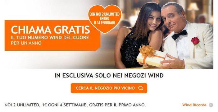 Wind, promozione di San Valentino Noi2 Unlimited