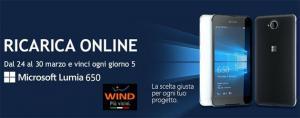 Wind concorso a premi, Ricarica online e vinci Microsoft Lumia 650