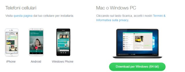 WhatsApp, Client ufficiale per Pc e Mac