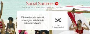 Vodafone presenta Vodafone Social Summer, 3GB a 5 euro per 4 settimane