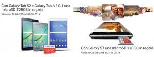 Samsung, acquista un Galaxy S7, Tab S2, Tab A 10.1 e ricevi una microSD da 128GB