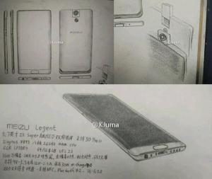 Meizu Legent, trapelato concept di telefono con fotocamera rotante
