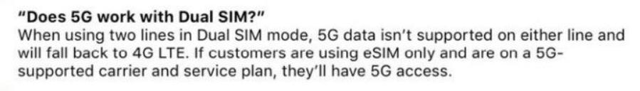 iPhone 12 dual 5g non supportato