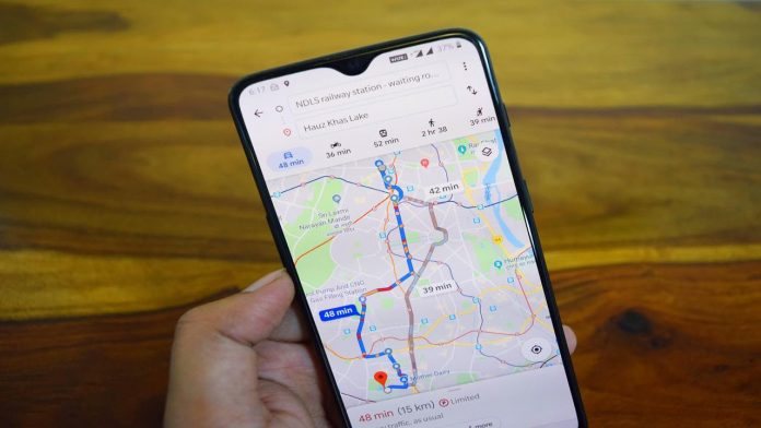 google maps driving mode