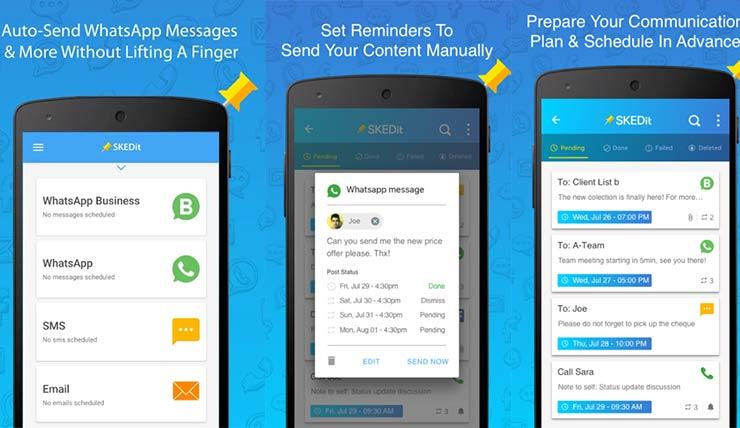 Inviare messaggi programmati su WhatsApp
