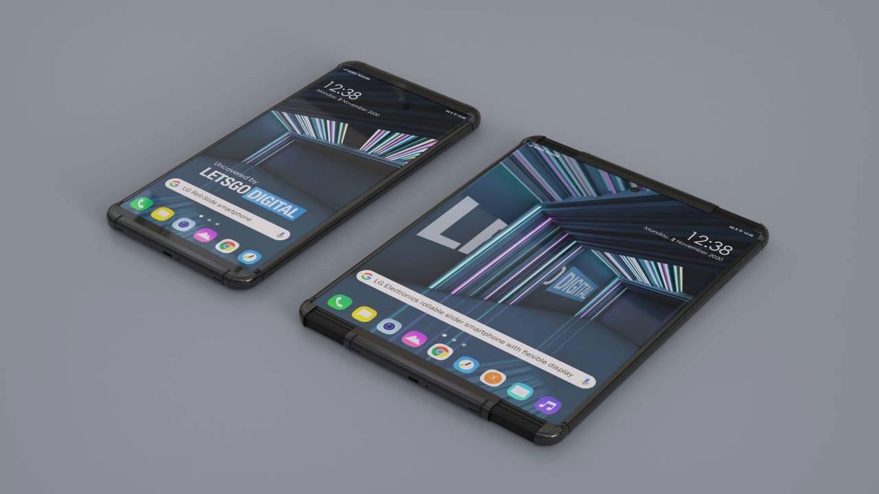 Smartphone con display arrotolabile LG