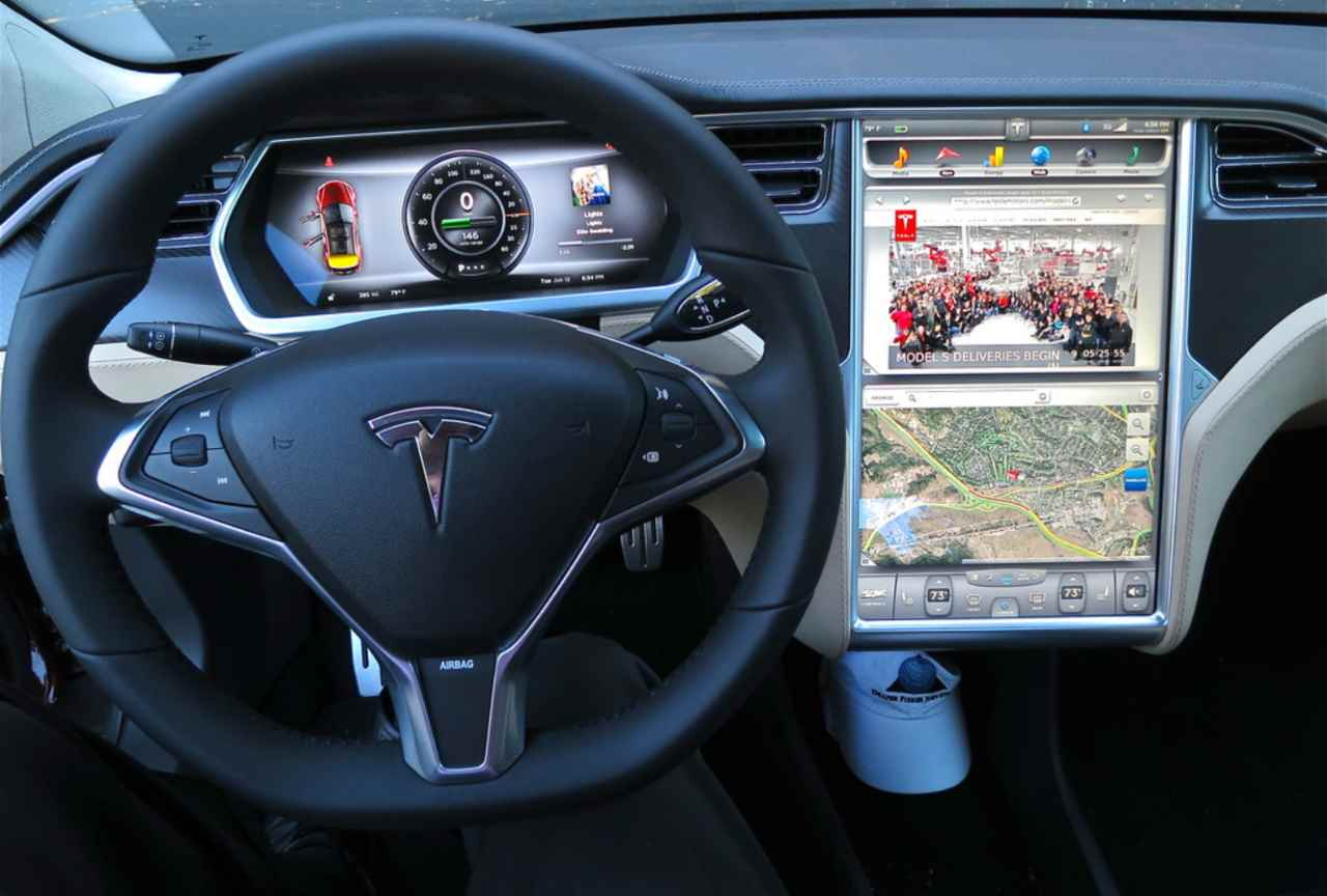 Tesla Model S display