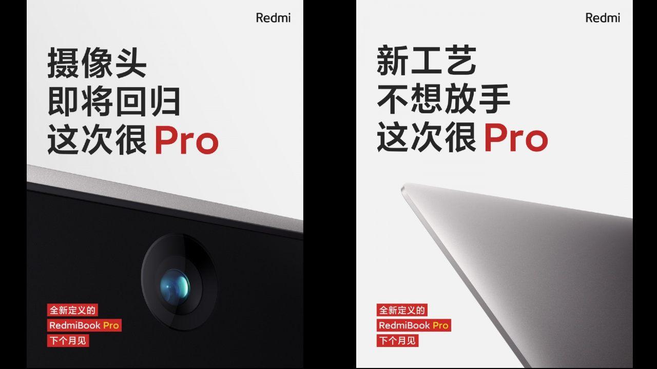 RedmiBook Pro Laptop, dettaglio videocamera e chassis