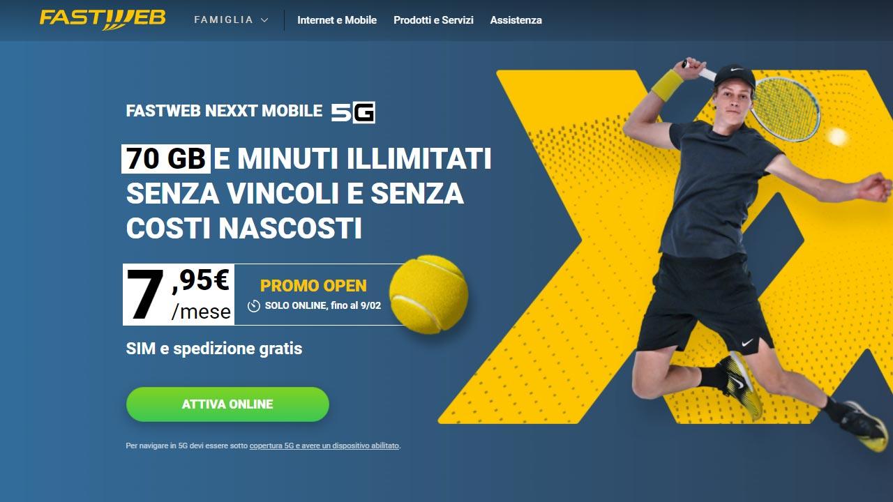 Fastweb NeXXt Mobile offerta 5G