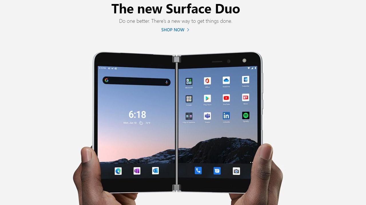Microsoft Surface Duo uscita Europa