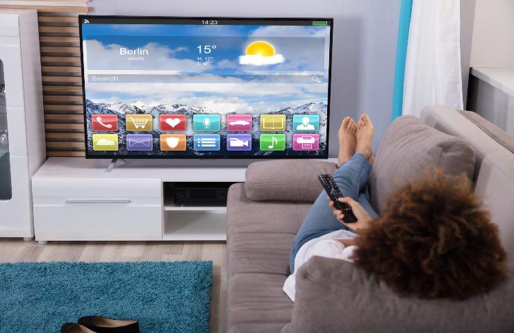 smart tv distanza