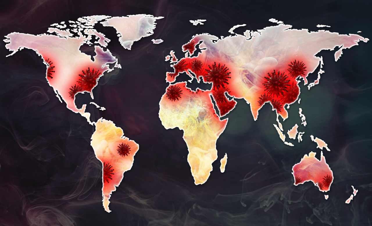 Il mondo secondo il Covid (Adobe Stock)