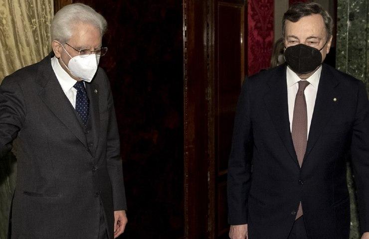Mattarella con il Premier Draghi