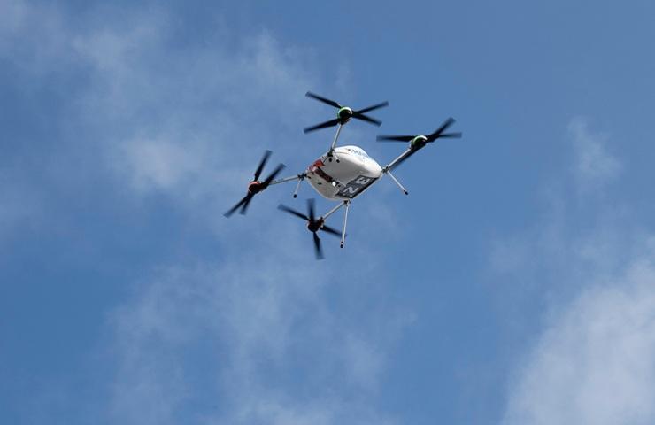 Samsung drone in volo