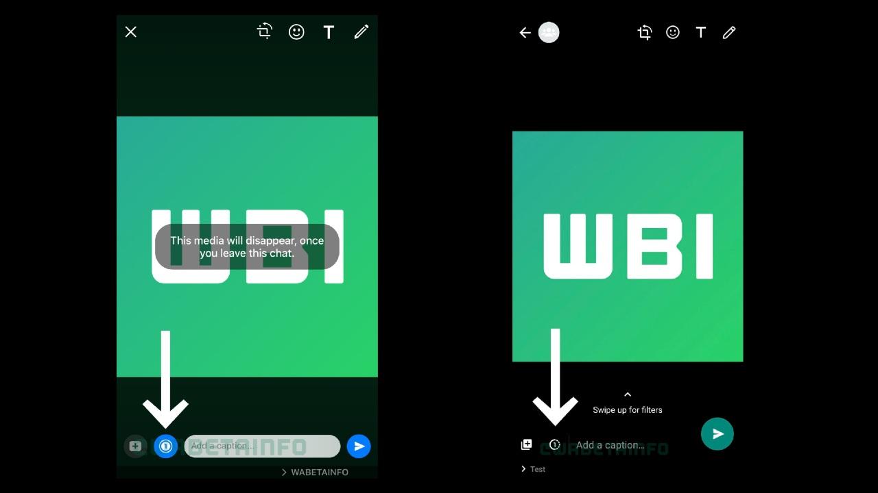 WhatsApp autodistruzione immagini screenshot 1
