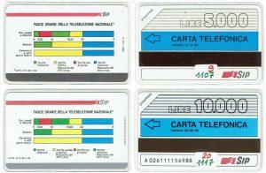schede telefoniche valore