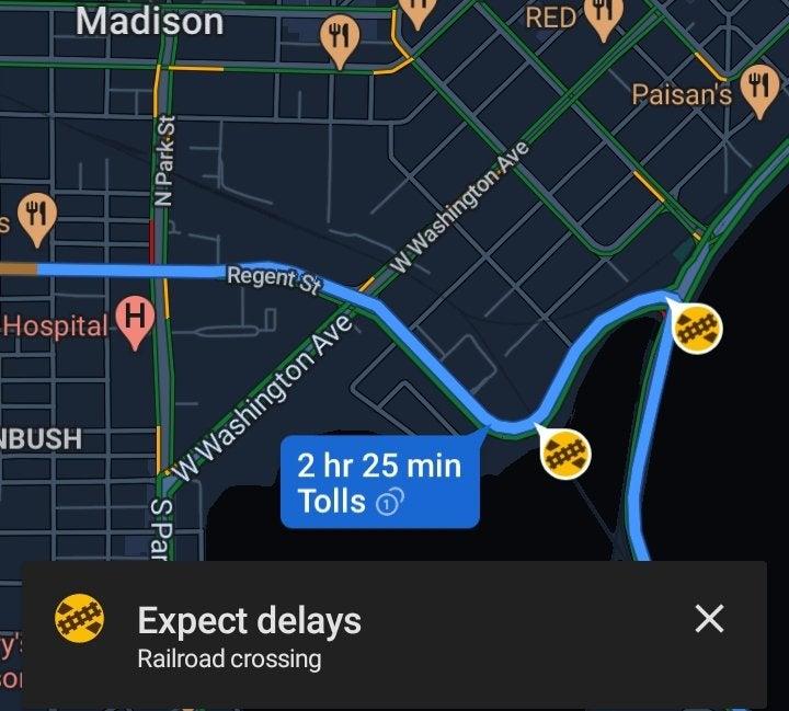 Google Maps attraversamento ferroviario