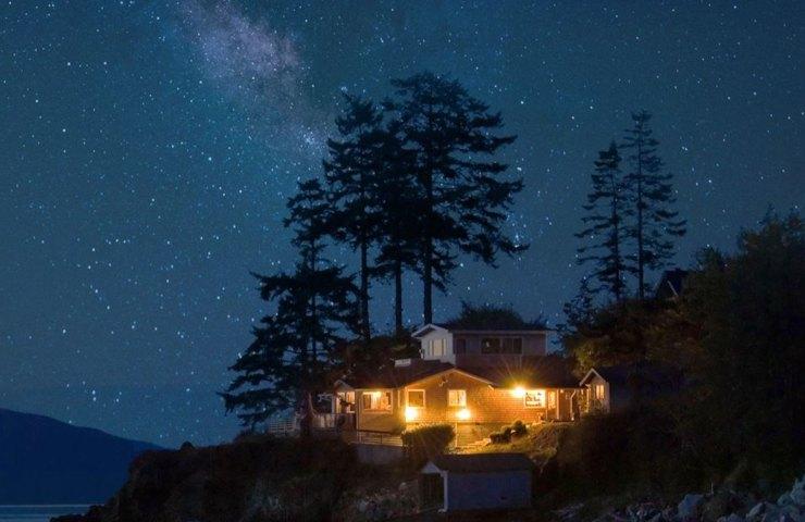 Starlink in viaggio, zona rurale