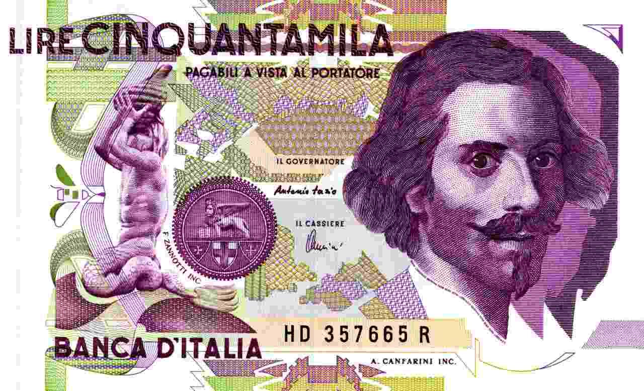 Banconota da 50.000 lire (Adobe Stock)