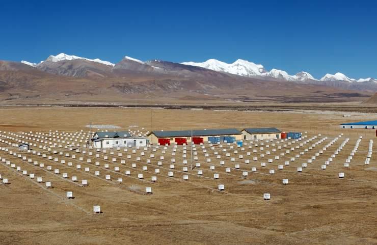 Pevatron, i rilevatori dell'AsGamma sull'Altipiano del Tibet