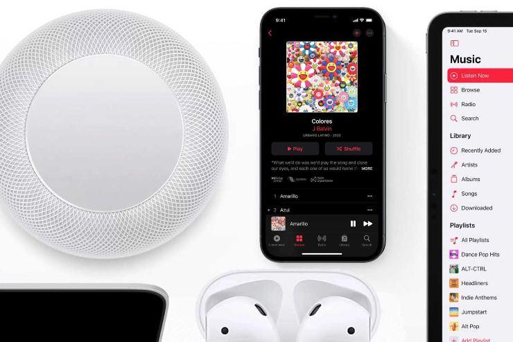Apple Music Lossless HomePod