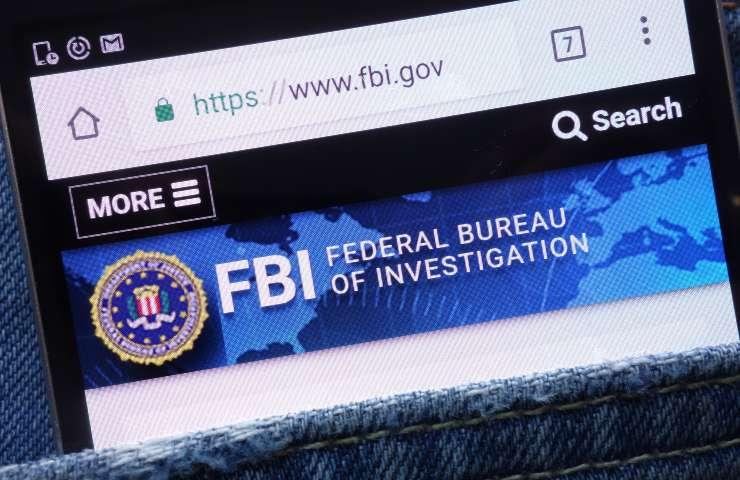 FBI password, Il sito del Federal Bureau of Investigation