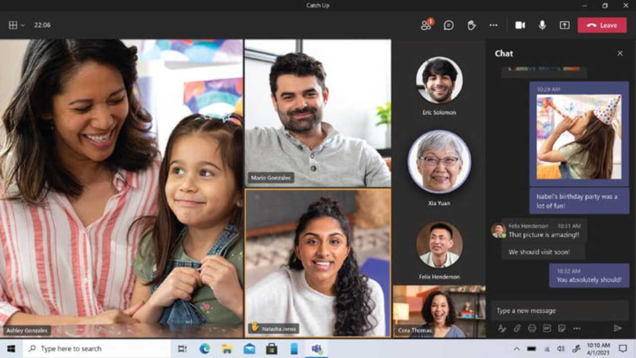 Chat di Microsoft Teams: Family e Friends
