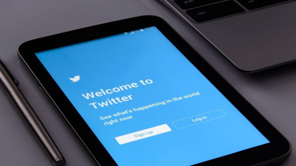 Twitter su tablet
