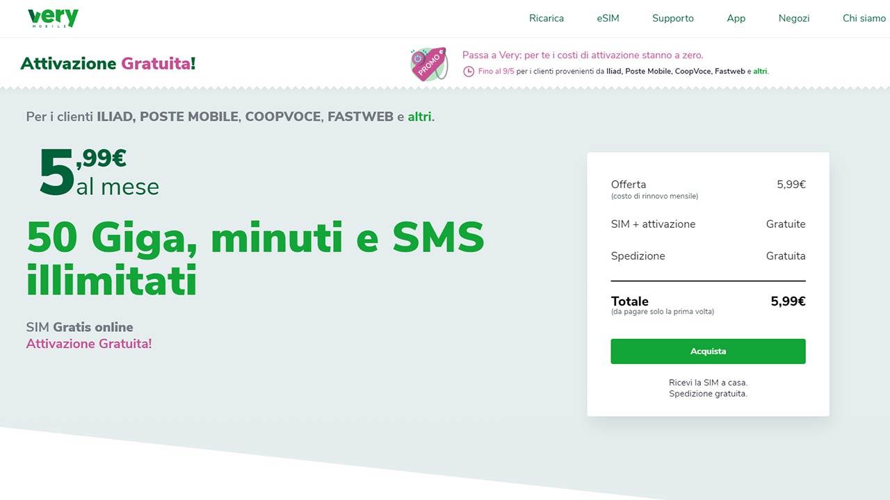 offerte Very Mobile