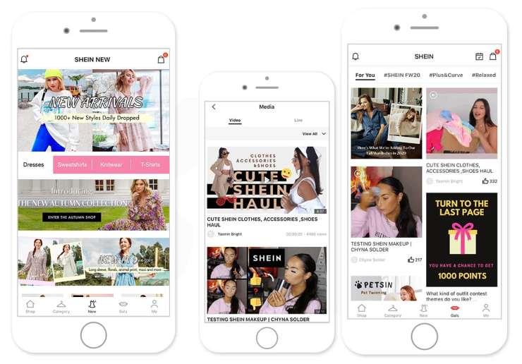 Shein app shopping
