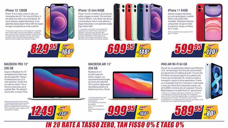 Sottocosto offerte volantino trony iPhone 12 Mini