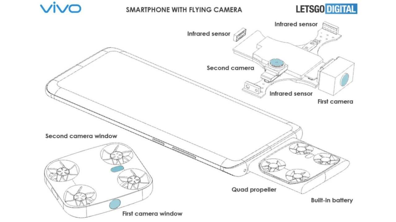 smartphone fotocamera volante