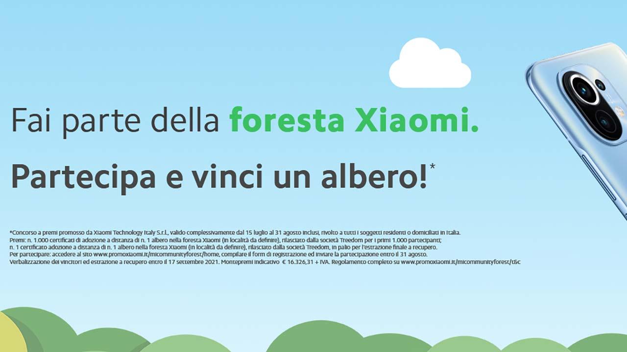 Xiaomi foresta sostenibilità