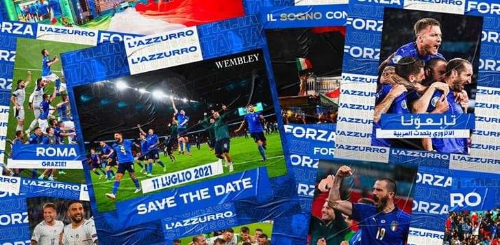 Italia in finale a Euro 2020, sui social è boom (FIGC)