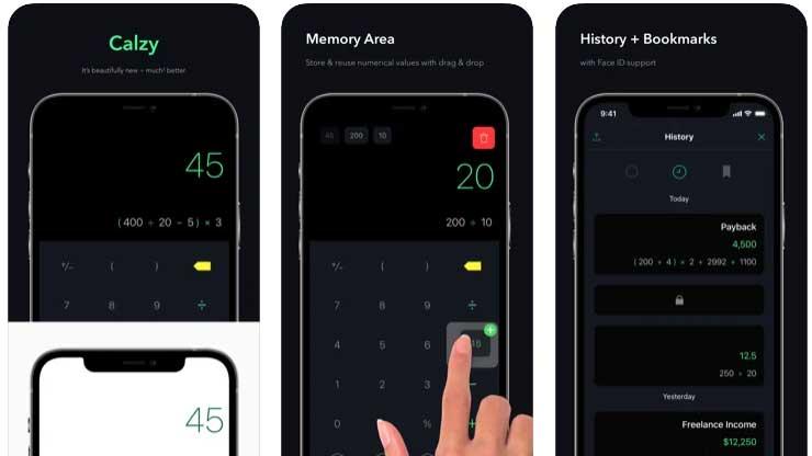 Calzy migliore app di calcolatrice Apple