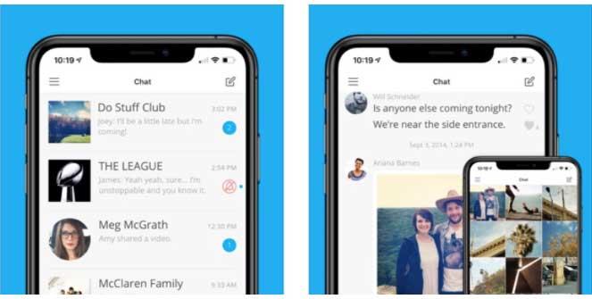 GroupMe app gruppi chat