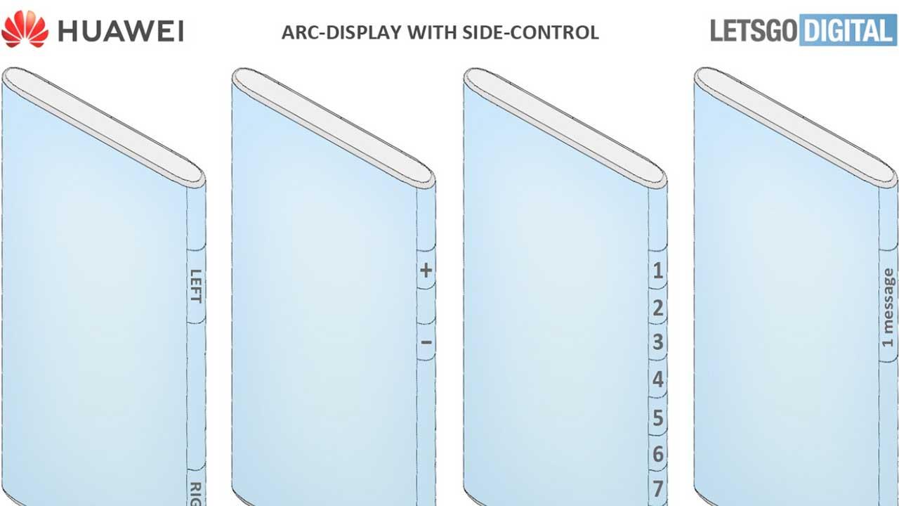 Huawei smartphone pieghevole curvatura