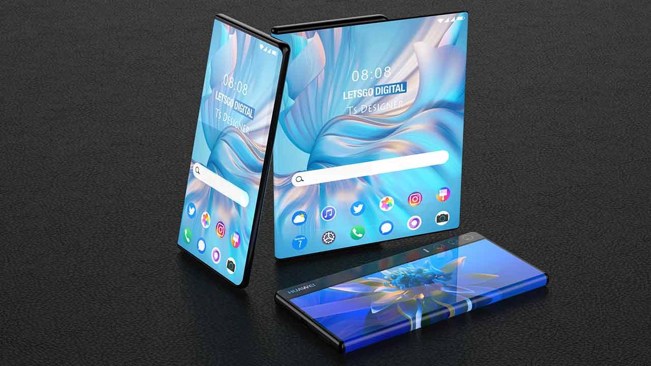 smartphone Huawei arrotolabile