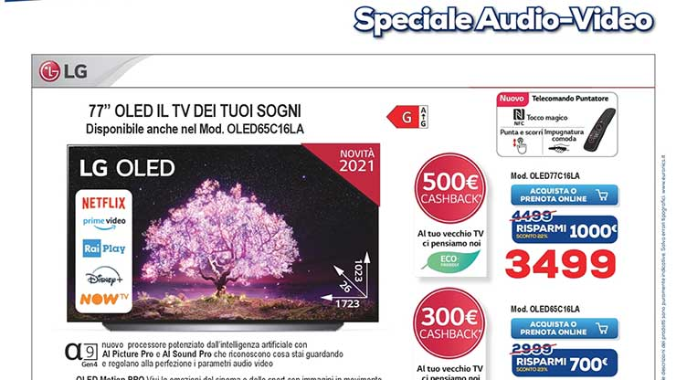 Volantino Euronics offerte acquisto smart TV