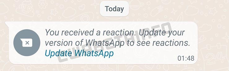 WhatsApp nuove funzioni reazione ai messaggi