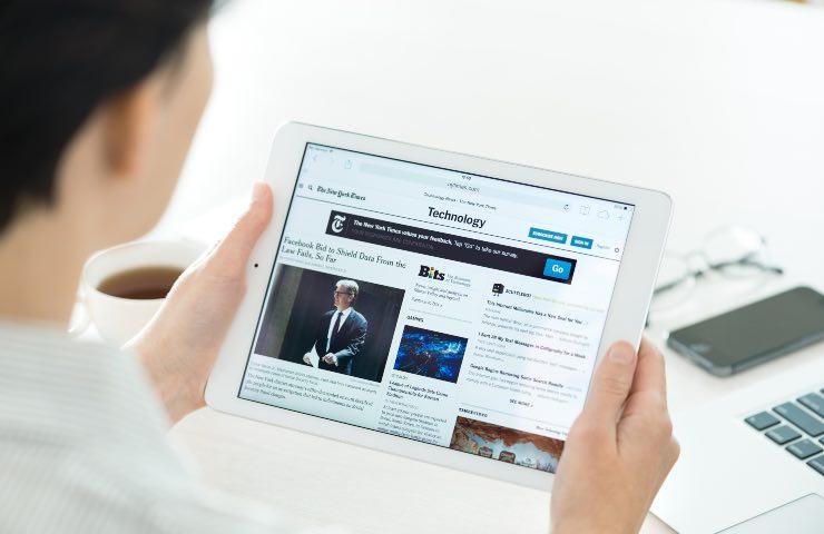 iPad quotidiano regalo