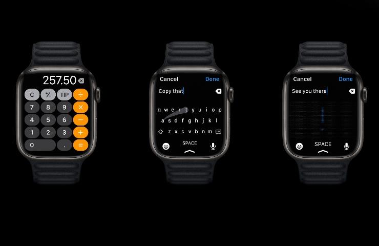 Apple Watch 7, molto più spazio per la tastiera (apple.com)