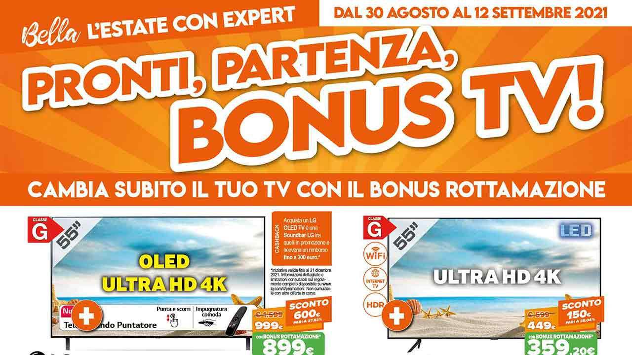 Volantino Expert offerte acquisto smart TV